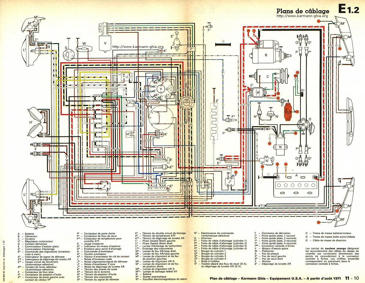 1971 karmann ghia wiring diagram brake light wiring