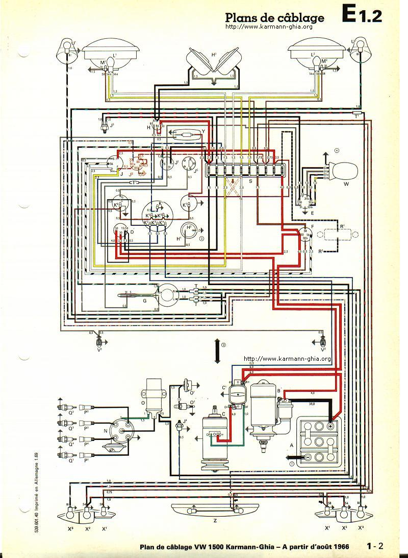 Radio Wiring Diagram 69 Vw Ghia Electrical Diagrams Volkswagen Alternator Wire 1969 Schematic